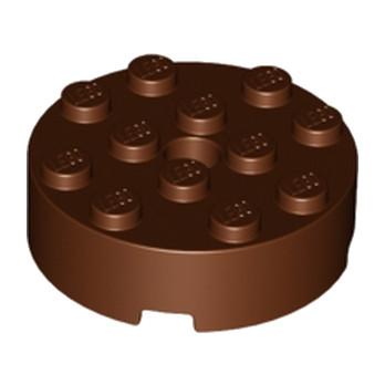 LEGO 6034334 BRIQUE RONDE 4X4 ROUND - REDDISH BROWN