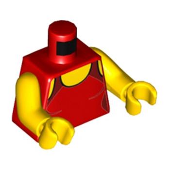 LEGO 6185541 TORSE FEMME DEBARDEUR ROUGE