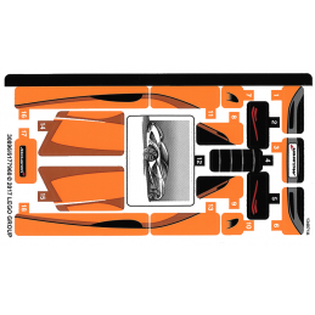 Stickers / Autocollant Lego Speed Champions 75880