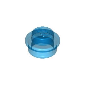LEGO 614143 ROND 1X1 - BLEU FONCE TRANSPARENT