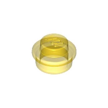 LEGO 614144 ROND 1X1 - JAUNE TRANSPARENT