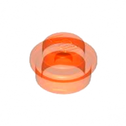 LEGO 614147 ROND 1X1 - ORANGE FLUO TRANSPARENT