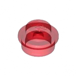 LEGO 614141 ROND 1X1 - ROUGE TRANSPARENT