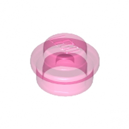 LEGO 6240230 ROND 1X1 - ROSE TRANSPARENT