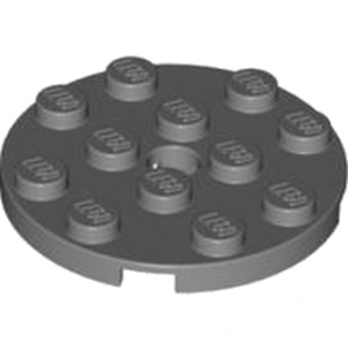 LEGO 4528323 PLATE ROND 4X4 - DARK STONE GREY