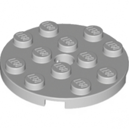 LEGO 4515351 PLATE ROND 4X4 - MEDIUM STONE GREY