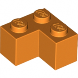 LEGO 6212079 BRIQUE D'ANGLE 1X2X2 - ORANGE