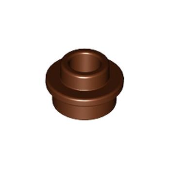 LEGO 6215659 ROND 1X1 AVEC TROU - REDDSH BROWN