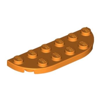 LEGO 6173923 1/2 Circle Plate 2X6 - ORANGE lego-6301806-12-circle-plate-2x6-orange ici :