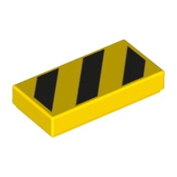 LEGO 6129504 IMPRIME 1X2 - JAUNE/NOIR