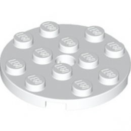 LEGO 4515347 PLATE ROND  4X4 - BLANC 4515347-plate-4x4-round-w-snap-white ici :