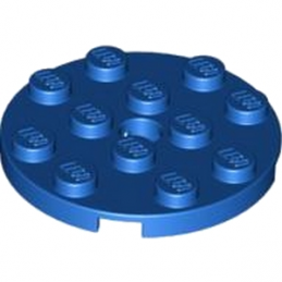 LEGO 4581501 PLATE ROND 4X4 ROUND - BLEU 4581501-plate-4x4-round-w-snap-bright-blue ici :