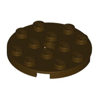 LEGO 6005030  PLATEROND 4X4 - DARK BROWN lego-6005030-plate-ronde-4x4-dark-brown ici :