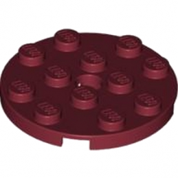 LEGO 4631233  PLATE ROND 4X4 - NEW DARK RED