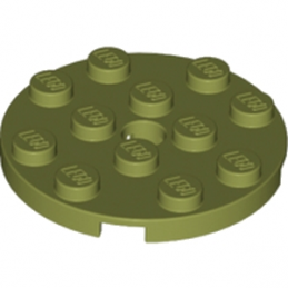 LEGO 6024666 PLATE ROND 4X4 - OLIVE GREEN