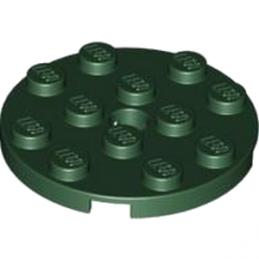 LEGO 4612728 PLATE ROND 4X4 - EARTH GREEN