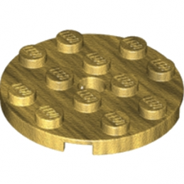 LEGO 6013297 PLATE ROND 4X4 - WARM GOLD