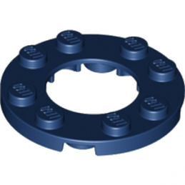 LEGO 6108550  PLATE ROND 4X4 + TROU Ø16MM - EARTH BLUE