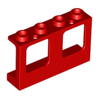LEGO 4567872 FENETRE / HUBLO 1X4X2 - ROUGE