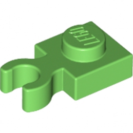 LEGO 6182195 PLATE 1X1 W. HOLDER - BRIGHT GREEN