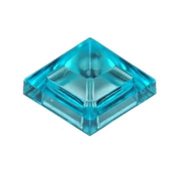 LEGO 6164329 - Tuile Pyramide 1X1X2/3 - Bleu Transparent
