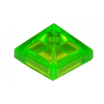 LEGO 6138727 TUILE PYRAMIDE 1X1X2/3 - VERT FLUO TRANSPARENT