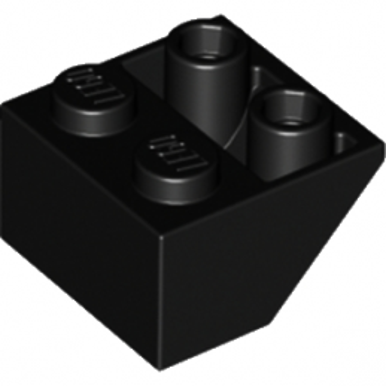 LEGO 366026 TUILE 2X2/45 INV - NOIR