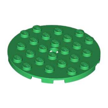 LEGO 6097413 PLATE RONDE 6X6 - DARK GREEN