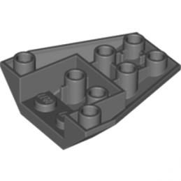LEGO 4210906  ROOF TILE 4X2/18° INV. - DARK STONE GREY lego-6079036-roof-tile-4x218-inv-dark-stone-grey ici :