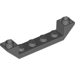 LEGO 4294180 INVERTED ROOF TILE 6X1X1 - DARK STONE GREY