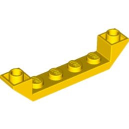 LEGO 4503844  INVERTED ROOF TILE 6X1X1 - JAUNE