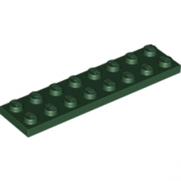 LEGO 6174940 PLATE 2X8 - EARTH GREEN lego-6174940-plate-2x8-earth-green ici :