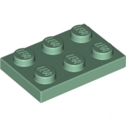 LEGO 6184348 PLATE 2X3 - SAND GREEN