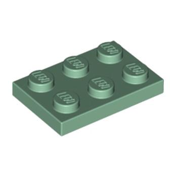 LEGO 6184348 PLATE 2X3 - SAND GREEN lego-6184348-plate-2x3-sand-green ici :