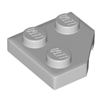 LEGO 6186657 PLATE 2X2, CORNER, 45 DEG. - MEDIUM STONE GREY