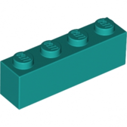 LEGO 6217660 BRIQUE 1X4 - BRIGHT BLUEGREEN