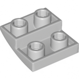 LEGO 6185676 BRIQUE 2X2X2/3, INVERTED BOW - MEDIUM STONE GREY