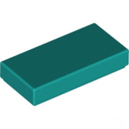 LEGO 6213779 PLATE LISSE 1X2 - BRIGHT BLUEGREEN