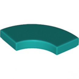 LEGO 6213876 PLATE LISSE 2X2 1/4 ROND - BRIGHT BUEGREEN