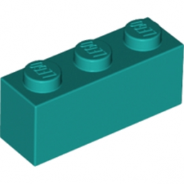 LEGO 6213783 BRIQUE 1X3 - BRIGHT BLUEGREEN