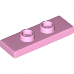 LEGO 6217796 PLATE 1X3 W/ 2 KNOBS - ROSE CLAIR