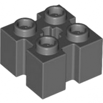 LEGO 4583879 BRIQUE 2X2 W/GROOVE - DARK STONE GREY