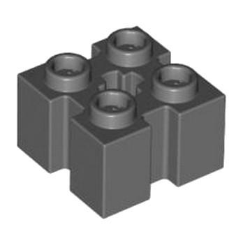 LEGO 4583879 BRIQUE 2X2 W/GROOVE - DARK STONE GREY lego-6236949-brique-2x2-wgroove-dark-stone-grey ici :