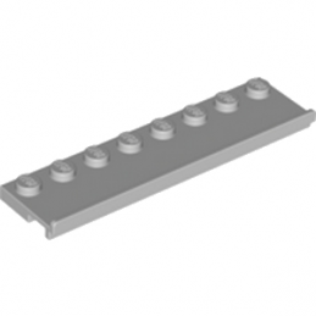 LEGO 4222019  PLATE 2X8 W/GLIDING GROOVE - MEDIUM STONE GREY