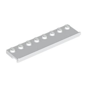 LEGO 3058601 PLATE 2X8 W/GLIDING GROOVE - BLANC
