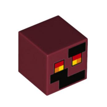 LEGO 6176402 IMPRIME MINECRAFT 2X2 - NEW DARK RED