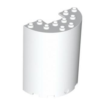 LEGO 4569476 MUR / CLOISON  ARRONDIE 3X6X6 - BLANC