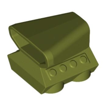 LEGO 6016481 BLOC MOTEUR 2X2X1 1/3 - OLIVE GREEN