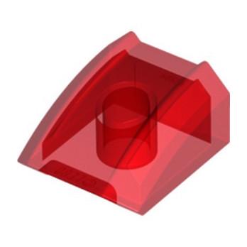 LEGO 6097656 BLOC MOTEUR 2X2 - ROUGE TRANSPARENT