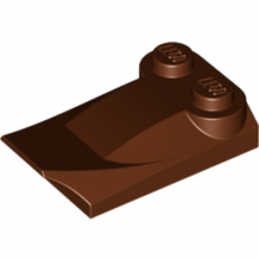 LEGO 4507833  PLATE W. BOWS 2X3½ - REDDISH BROWN